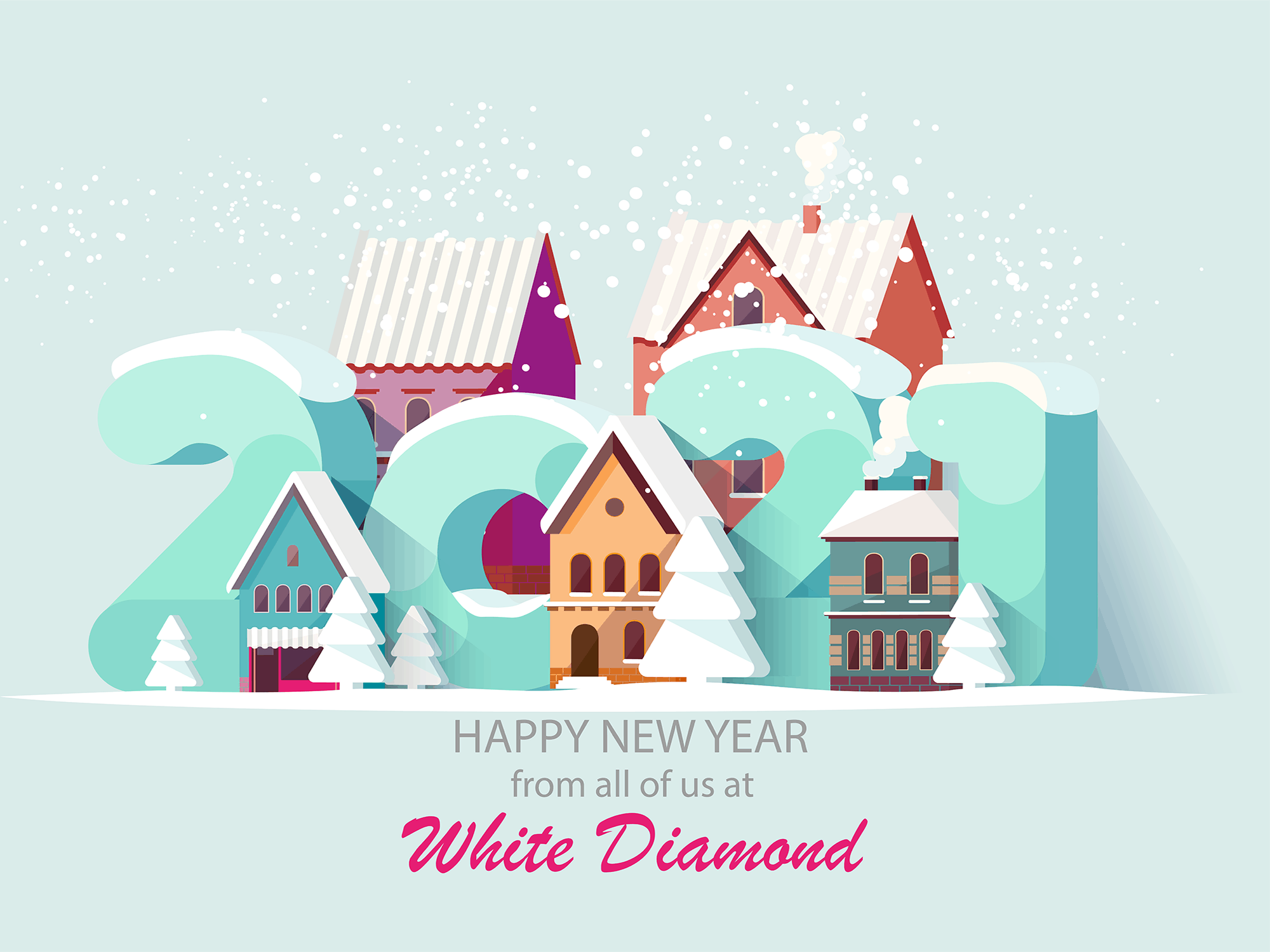Happy New Year White Diamond